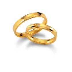 DUO OF LOVE TROUWRING 1104.35-1B GEELGOUD MET BRILJANT