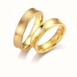 DUO OF LOVE TROUWRING 1104.50-1B GEELGOUD MET BRILJANT