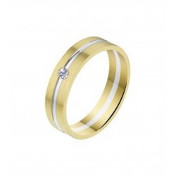 ANGELI DI BOSCA GOUDEN TROUWRING 584-5MM/0.06 CT. BICOLOR
